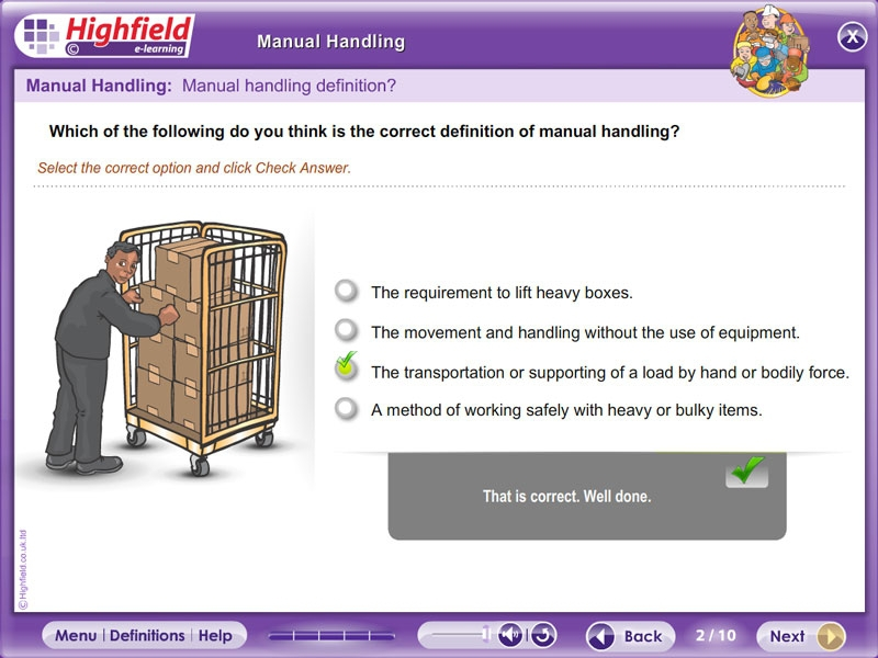 uk training manual handling theory online Manual Template Manual Handling Injuries